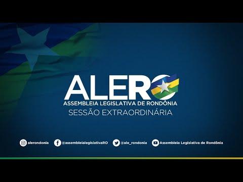 Confira como foi a Sessão Extraordinária 22/04 da ALERO