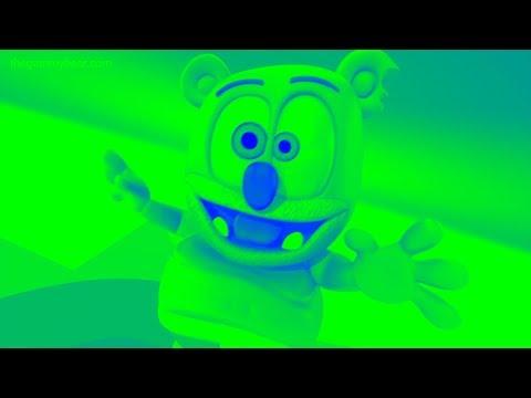 BLUE & GREEN & LOW PITCH Gummibär REQUEST VIDOE English & Finnish HD Gummy BEar Song
