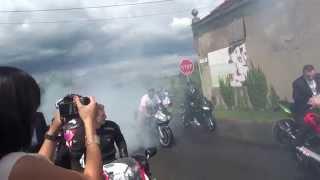 Ślub na motocyklach Mateusz i Beata   Legnica