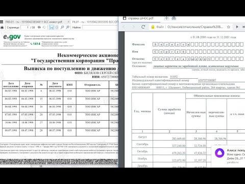 Пример, справка о доходах, Казахстан