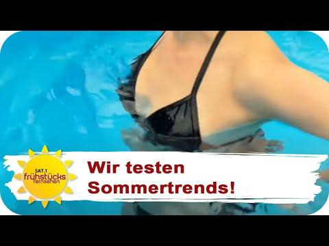 EIN WASSERLÖSLICHER BIKINI: Dieser Sommertrend macht Männer froh! | SAT.1 Frühstücksfernsehen | TV