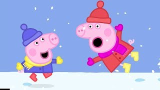 Peppa Pig English Episodes in 4K   Snow Fun! #PeppaPig