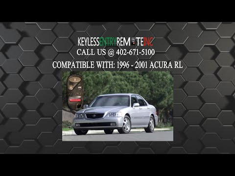 How To Replace Acura Rl Key Fob Battery 1996 2001 Car
