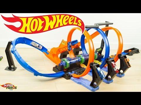 Hot Wheels Piste Looping Infernal Crash Voitures Jouet Toys Mattel
