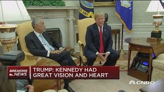 Trump and Portuguese president meet at the White House