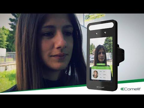 Comelit – Scanner thermique LCD avec reconnaissance faciale et détection de présence de masque