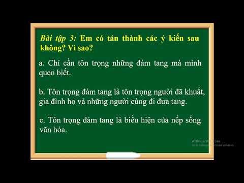 ĐẠO ĐỨC LỚP 3 - TÔN TRỌNG ĐÁM TANG TIẾT (1, 2)