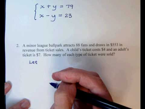 Systems of Linear Equations: Word Problems - Expii