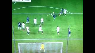 Sergio Ramos awesome overhead kick goal vs Sevilla!