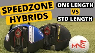 Michael Newton Golf Cobra SpeedZone One Length Hybrid VS SpeedZone Standard Hybrid