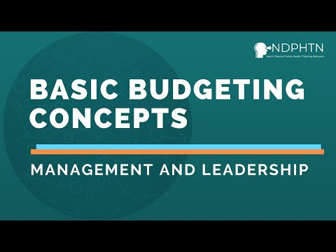 (L029) Basic Budgeting Concepts - Leadership and Management ...