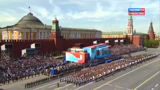 """We Are the Army of the People"" Russian Army Choir, Red Square Victory Parade 9 May 2015"