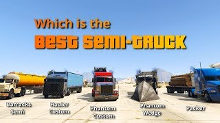 GTA V Which is the Best Semi Truck | Battle of Big Rigs