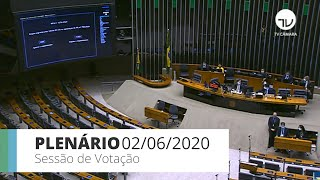 Plenário - Sessão para votação de propostas - 02/06/2020 15:00