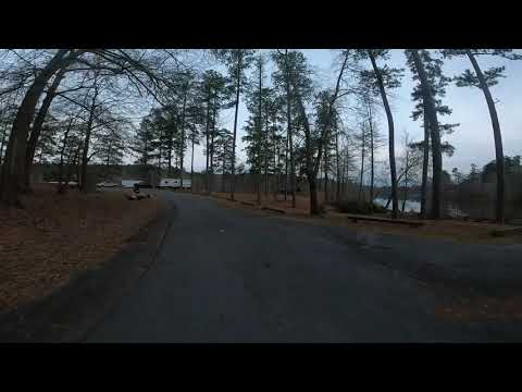Bike ride through the west shore campground