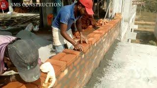 Brick Work   Brick masonry wall   working process