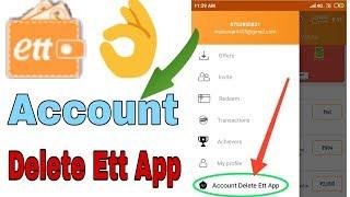 How do I permanently delete my ett App account from my phone? JW IndiaApp