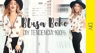 DIY BLUSA BOHO CHIC | 100% Trendy | WanderLu Style