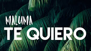 MALUMA - TE QUIERO ( LETRA/ LYRICS + ENGLISH TRANSLATION)