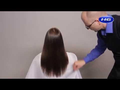 Работа с насадкой-полировщиком крупным планом. Избавление от секущихся кончиков волос.