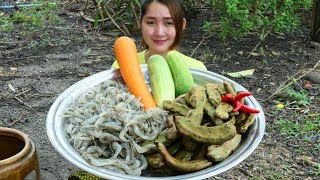 Yummy River Shrimp Pounded Young Tamarind Recipe - Yummy River Shrimp Pounding - Cooking With Sros