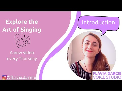 """Introduction to """"Exploring the Art of Singing"""" series. Every week a new one, go check it out!!"""