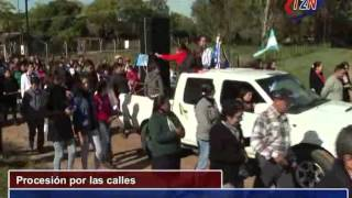 preview picture of video 'La Virgen Peregrina en villa Olivari  tele 2 Noticias  Ituzaingó Corrientes'