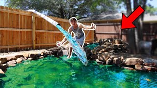 Stocking My BACKYARD POND With TONS OF FISH!!!