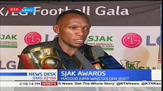 Gor Mahia forward Meddie Kagere named the best player at SJAK awards