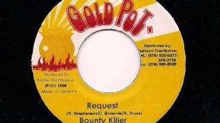"BOUNTY KILLER - Request + Version - JA Gold Pot 7"" 1999"