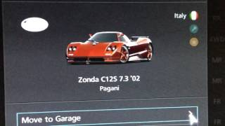Gt6 all my cars in stockyard red edition, gold edition and, blue edition