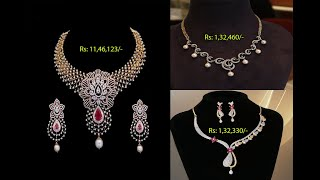 Latest Gold Diamond Necklace Designs With Price || Latest Gold Necklace Designs || Shridhi Vlog