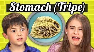 KIDS vs. FOOD - COW'S STOMACH (TRIPE) - dooclip.me