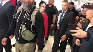 Billie Eilish Gets Escorted Through Sydney Airport