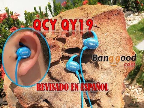 QCY QY19 EN ESPAÑOL, AURICULARES DEPORTIVOS BLUETOOTH, enviado por Banggood.com