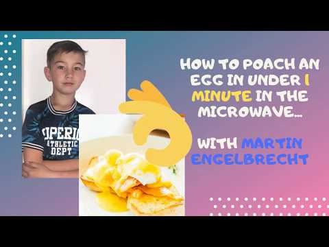 How to poach an egg  in under 1 minute in a microwave, with Martin Engelbrecht