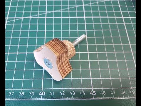 Holzknöpfe / Holzgriffe selber machen / Vorrichtung / grip wooden knob jig Huxxa #1801