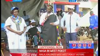 Raila Odinga donates maize to the residents of West Pokot