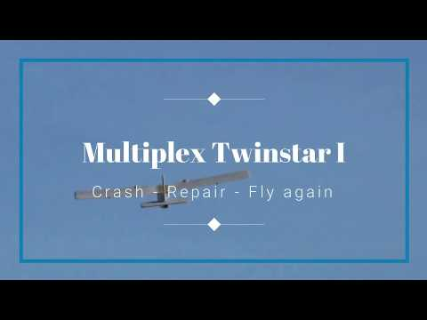 mein-multiplex-twinstar-i--crash--repair--fly-again