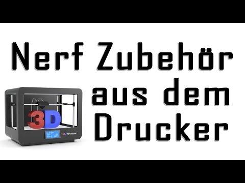 Nerf Zubehör aus dem 3D-Drucker [deutsch/german]