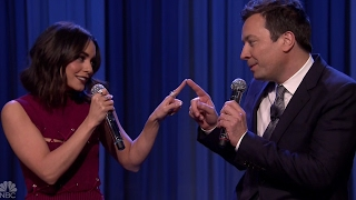 Vanessa Hudgens & Jimmy Fallon Sing 'Friends' Theme Song Duet on Tonight Show