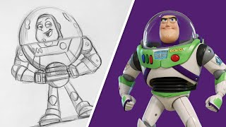 How to Draw Buzz Lightyear from Toy Story | Draw With Pixar