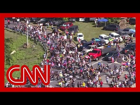 Massive protests shut down highway in Puerto Rico