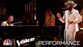 """Victor Solomon and John Legend Perform """"Someday We'll All Be Free"""" - The Voice Finale Results 2021"""