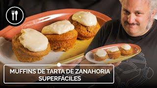 MUFFINS DE TARTA DE ZANAHORIA superfáciles