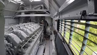 V-16 под реостатной нагрузкой. ТЭП70 0237! GoPro в дизельном.