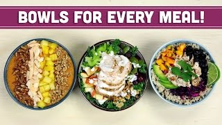 Healthy Breakfast Lunch & Dinner Bowls With The Domestic Geek! Collab - Mind Over Munch