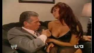 Vince Mcmahon and Candice Michelle Making Out Backstage