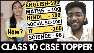 Class 10 CBSE 2020 Topper | Live Interview | How to become a topper ?