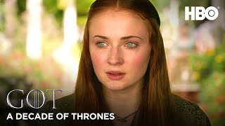 A Decade of Game of Thrones | Sophie Turner on Sansa Stark (HBO)